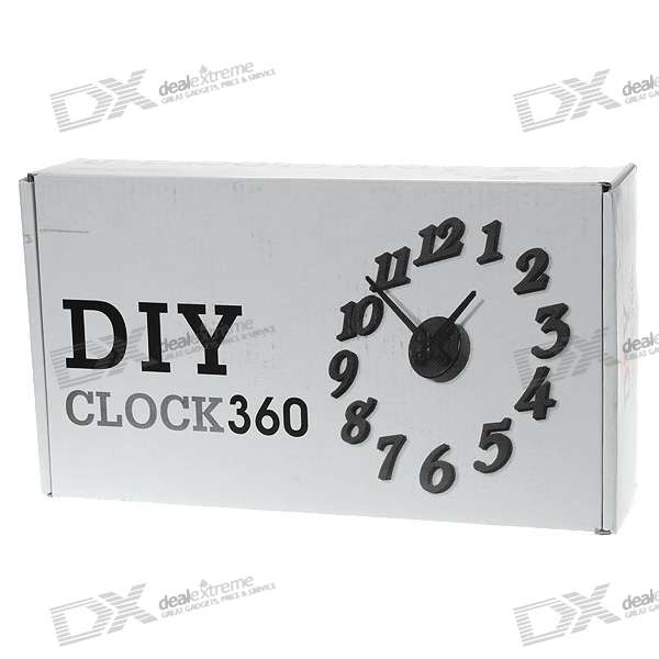 Stylish DIY Interior Decorating Wall Clock (1*AA/Color Assorted)