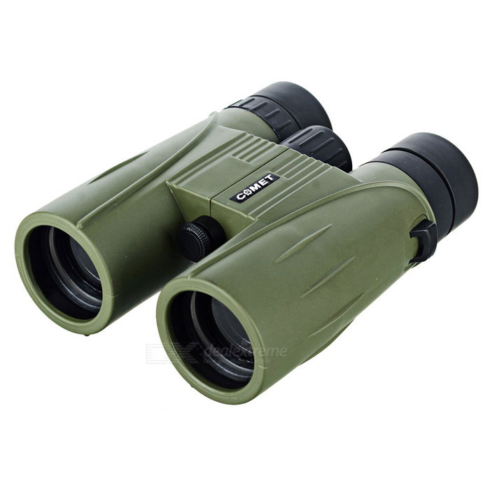 COMET 8X 42mm Outdoor Binocular w/ Large Eyepiece - Army Green + BlackBinoculars And Telescopes<br>Form  ColorArmy Green + BlackWater ResistantNoQuantity1 DX.PCM.Model.AttributeModel.UnitMaterialAluminum alloy + rubberBest UseClimbing,Rock Climbing,Family &amp; car camping,Backpacking,Camping,Mountaineering,Travel,CyclingFeatureBird watching binocular,Show watching telescope,Landscape watching telescopeMagnification8XObjective Diameter42mmWeather resistantYesFogproofNoExit Pupil Diameter10mmEye Relief3cmPrism TypeBAK4Focus SystemCenterPacking List1 * Binocular1 * Eyepiece with cover1 * Black shoulder bag1 * Shoulder strap (107+/-2cm)1 * Cleaning cloth1 * English user manual<br>