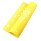 Cake Double Silicone Pad Baking Mold Painted Mat - White + Yellow