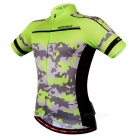 WOSAWE Unisex Cycling Short Jersey Top + Pants Suit - Green (L)