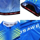 WOSAWE Unisex Cycling Short Jersey Top + Pants Suit - Azure (XXL)