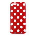 Dot Pattern TPU Back Case for IPHONE 6 / 6S - Red + White