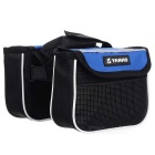 Yanho Oxford Cloth + Nylon Bike Top Tube Bag - Black + Blue (1.5L)