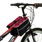 Yanho 4 en 1 Multifuncional Bike Tube Saddle Bag - Negro + Rojo