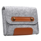 "Wool Felt Inner Bag + Accessory Bag Set for MACBOOK 12"" - Grey"
