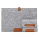 "Wool Felt Inner Bag + Accessory Bag Set for MAKBOOK AIR 11.6"" - Grey"