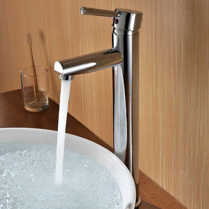 AL-0325 kromfinish messing bath Basin tappekran