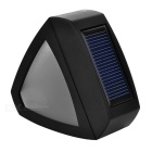Outdoor Solar Power Garden LED Wall Lamp Neutral White Light - Black