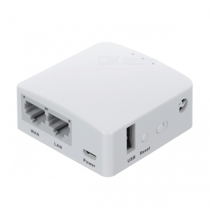 90SMART GL-AR150POE mini enrutador inteligente w / poe openwrt flash 16M - blanco