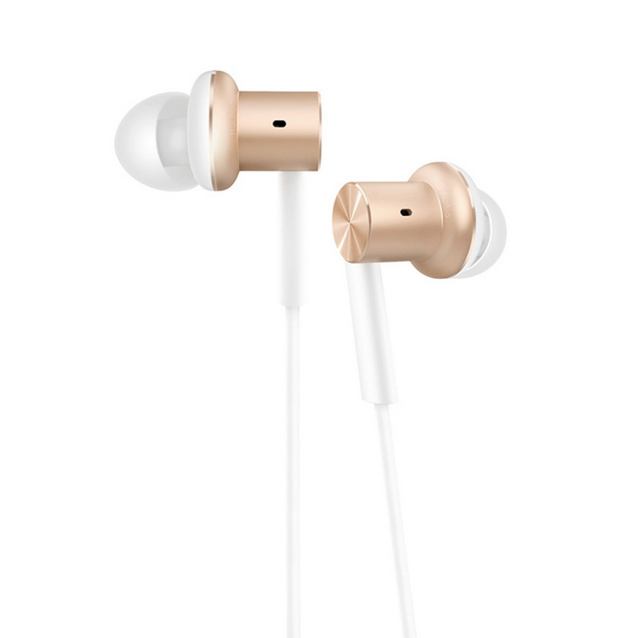 Xiaomi 3.5mm Jack Wired In-ear Piston Earphone w/ Mic. - Gold + White