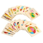 Balloon Shaped Puzzle Wooden Blocks Cartoon Toy - Yellow + Multicolor