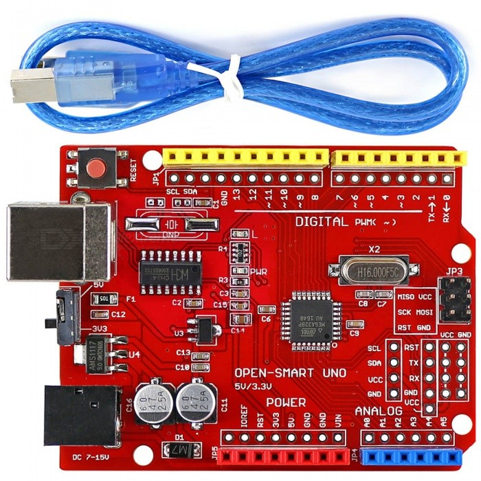 OPEN-SMART UNO R3 ATMEGA328P Development Board med kabel for Arduino