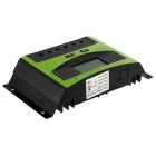 30A 12V/24V Solar Charge Controller PWM Charging - Black + Green