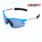 OSSAT 99123 Unisex Outdoor Sport Sunglasses - White + Blue