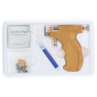 Stainless Steel Safe Ear Nose Navel Piercing Gun Tool Set - Jaune