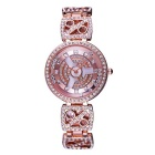 WeiQin 390501 Women's Rhinestone Bracelet Quartz Watch - Rose Gold