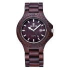 SKONE Men's Sandalwood Analog Quartz Watch - Ebony (1*s377)
