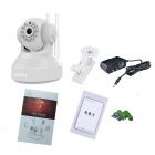 VESKYS 1.0MP HD Wireless Linkage Alarm IP Camera Set - White (US Plugs)