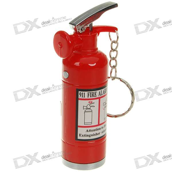 Shock-Your-Friend Shocking Fire Extinguisher with LED Light (Practical Joke)