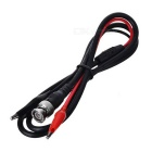 BNC to Dual Alligator Clips Insulated Test Leads - Black + Red (108cm)