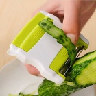 Kitchen Vegetable Fruit Two-way Flip Scale Peeler - Grass Green