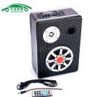 "5"" Car Motorcycle Mounted Bluetooth Subwoofer Speaker - Black + Brown"