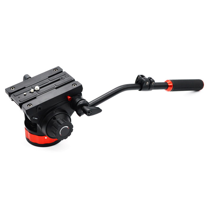 Pro Fluid Pan / Tilt PTZ Video Head for Manfrotto 502 Tripod - Black