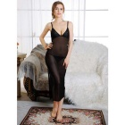 Sexy Lingerie Suspender Dress Pajamas Set - Black