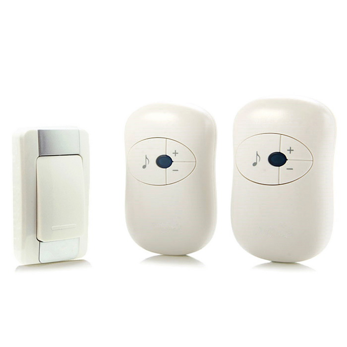 H-A16-2 1 to 2 Wireless Remote Control Door Bell - White (US Plug)