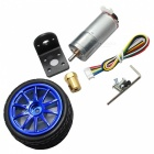 6V 210RPM DC Gear Motor with Hall Encoder - Silver + Multi-Colored