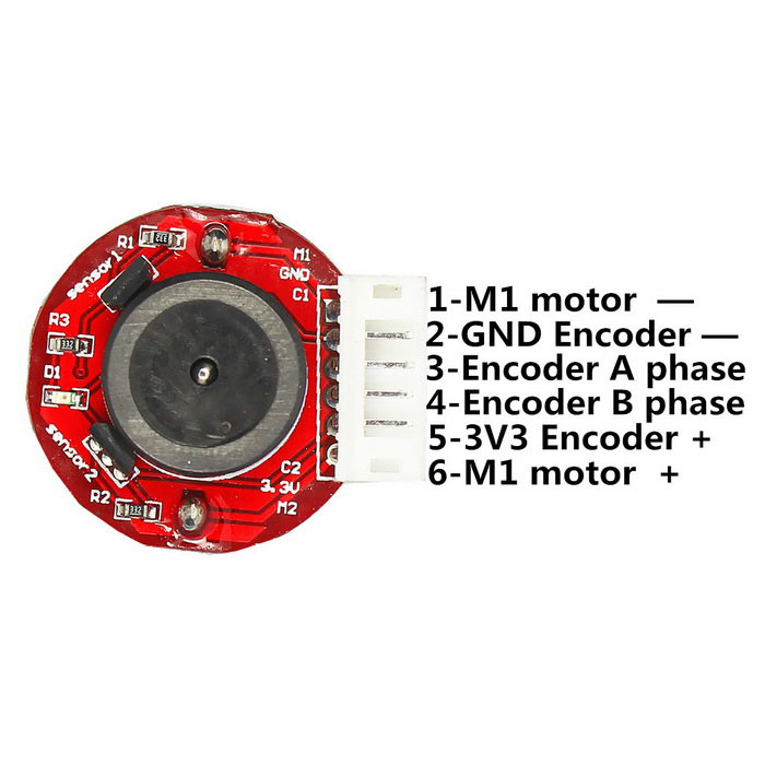 6v 210rpm dc gear motor with hall encoder silver multi for Dc gear motor with encoder