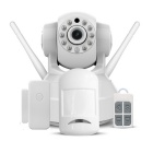VESKYS 1.0MP HD wireless linkage alarme câmera IP set - branco (eu plug)