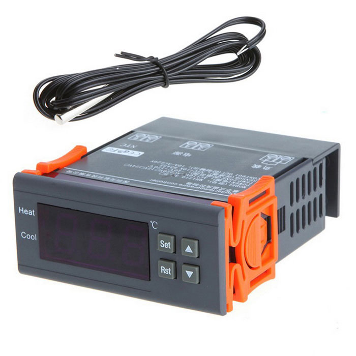 10A 110V Digital Temperature Controller Thermocouple (-40C~120C)Other Measuring &amp; Analysing Instruments<br>Form  ColorDark Grey + OrangeModelN/AQuantity1 DX.PCM.Model.AttributeModel.UnitMaterialABS + MetalScreen Size2 DX.PCM.Model.AttributeModel.UnitPowered ByOthers,-Battery included or notNoPacking List1*Temperature Controller 1*Temperature Sensor (2m)1*Instruction Manual (English)<br>
