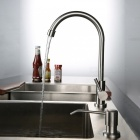 F-022 304 Stainless Steel 360° Rotatable Sink Faucet - Silver