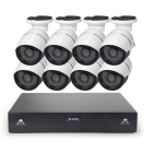 Cotier N8BM/Kit Night Vision P2P 1080P 8CH IP Camera - White (EU Plug)
