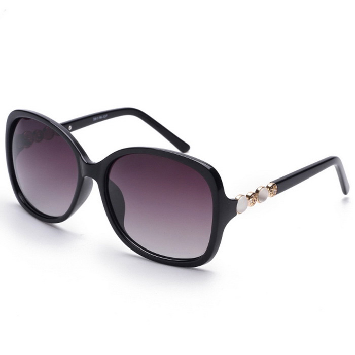 Senlan 9505C2 Women's Polarized Sunglasses - Black + Grey