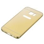 Metal Bumper + Back Cover Case For Samsung Galaxy S7 Edge - Golden
