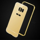 Metal Bumper + Back Cover sak for Samsung Galaxy S7 Edge - gylne