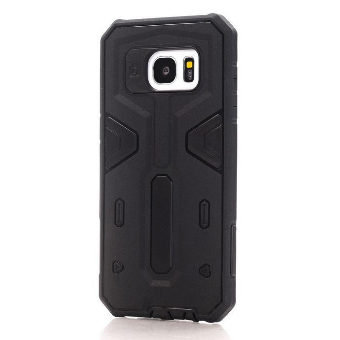 TPU + PC Back Case for Samsung Galaxy S7 Edge - Black