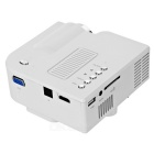 Mini 1080P HD Household LCD Projector Home Cinema Theater - White