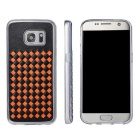 Woven Pattern Back Cover for Samsung Galaxy S7 - Black + Orange