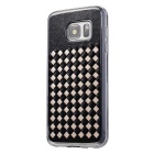 Woven Pattern Back Cover for Samsung Galaxy S7 - Black + Gold