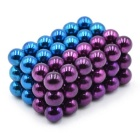 5mm DIY NdFeB brinquedo de bolas magnético - Purple + Light Blue (72PCS)