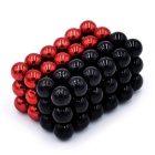 5mm DIY NdFeB Magnetic Balls Toy - Red + Black (72PCS)