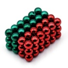 5mm DIY NdFeB Magnetic Balls Toy - Red + Green (72PCS)