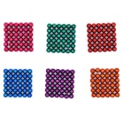 5mm Puzzle Magnetic Beads Toy - Orange + Red + Multi-Colored (216PCS)