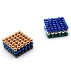 5mm Puzzle Magnetic Beads Toy - Blue + Silver + Multi-Colored (216PCS)