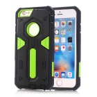 TPU + PC Back Case for IPHONE 6S/6 - Black + Green
