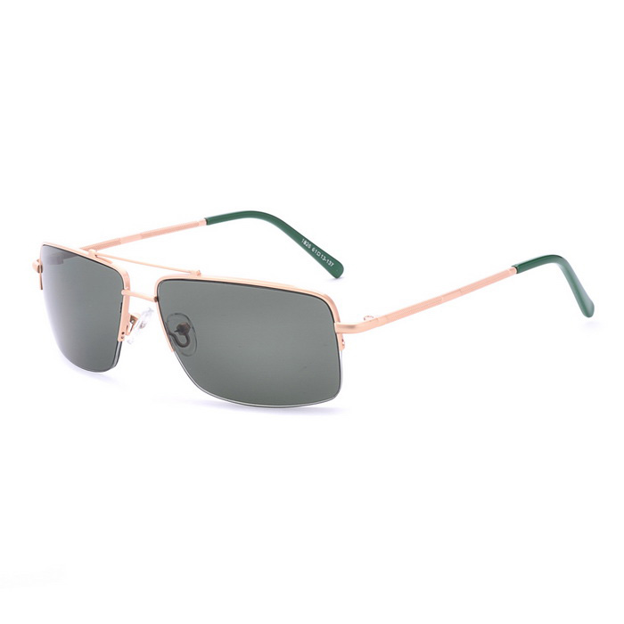 SENLAN 1826C3 Men's UV400 Protection Sunglasses - Golden + Green