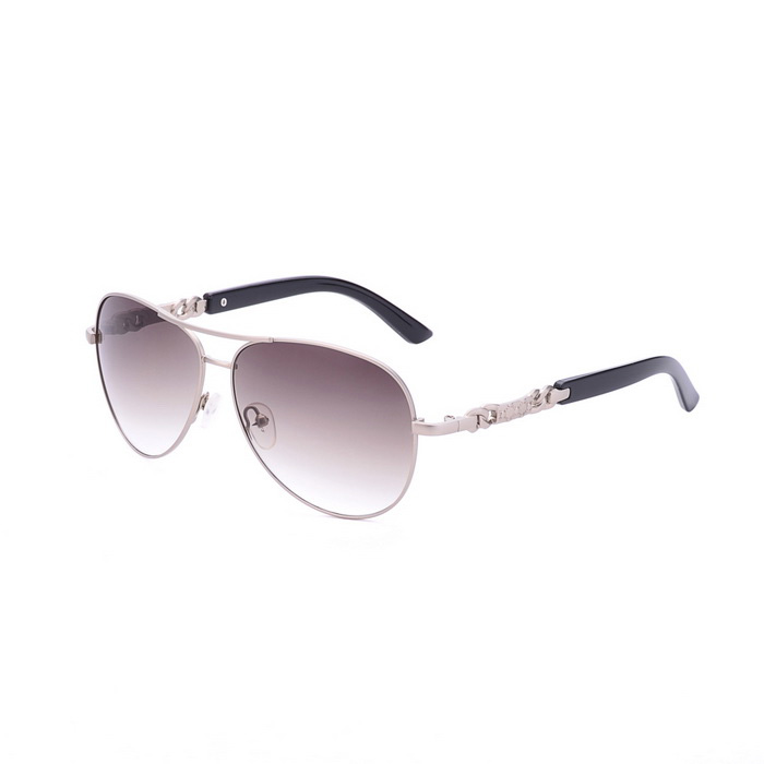 SENLAN 1808C1 Men's UV400 Protection Sunglasses - Silver + Tawny
